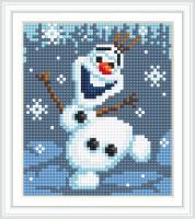 Набор Алмазной мозаики АВ 5089 Снеговик  полная зашивка