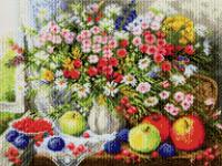 Набор Алмазной мозаики   АВ  2010 Цветы  полная зашивка