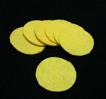 Фетр в кружках 100шт  желтый
