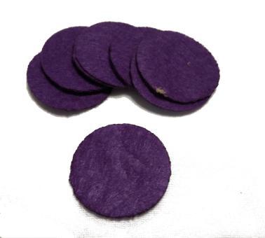 Фетр в кружках 100шт  фиолетовый