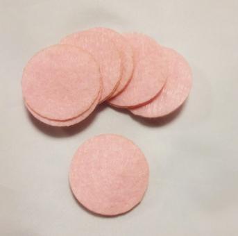 Фетр в кружках 100шт  розовый
