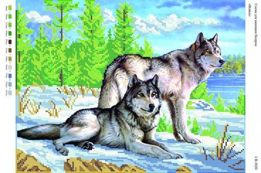 Вышивка бисером СВ 3020 Волки