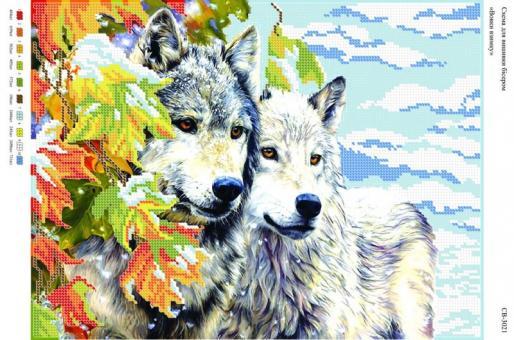 Вышивка бисером СВ 3021  Волки