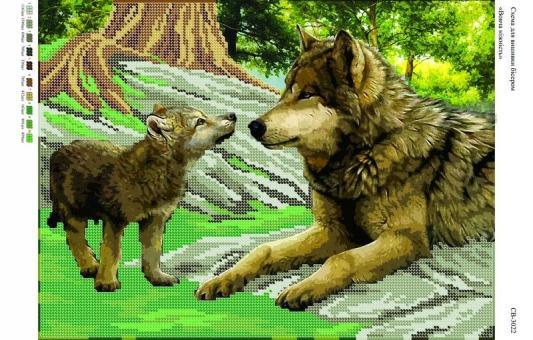 Вышивка бисером СВ 3022 Волки