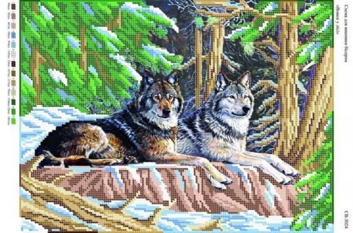 Вышивка бисером СВ 3024  Волки