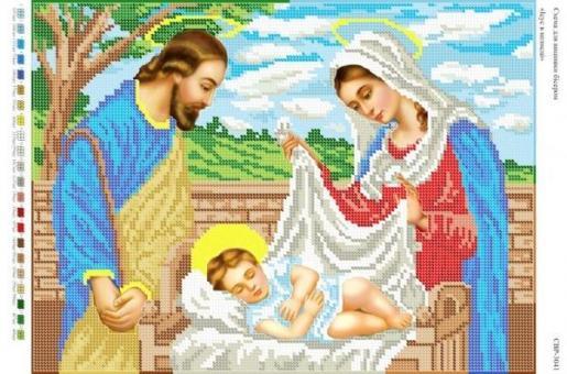 Вышивка бисером СВР 3041 Иисус в коляске