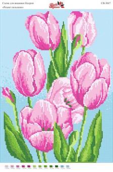 Вышивка бисером СВ 3047 Тюльпаны (полная зашивка)