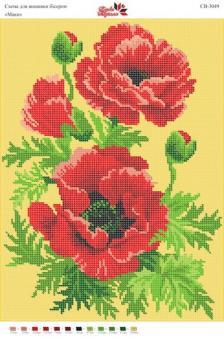 Вышивка бисером СВ 3049 Маки (полная зашивка)