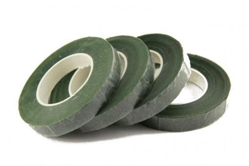 Флористическая лента (тейплента) темно зеленая №306    (упаковка 12шт)