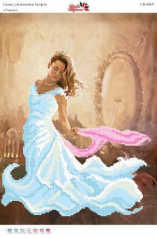 Вышивка бисером СВ 3069 Девушка  (частичная зашивка)