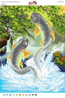 Вышивка бисером СВ 3079 Рыбы  (частичная зашивка)