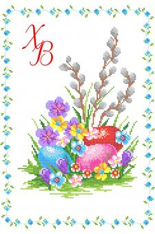 Вышивка бисером СВР 3116 Пасхальная салфетка