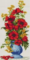 Алмазная вышивка АВ 3507 Цветы  (полная зашивка)