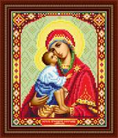 Набор Алмазной мозаики   АВ 4059 Богоридица  частичная зашивка