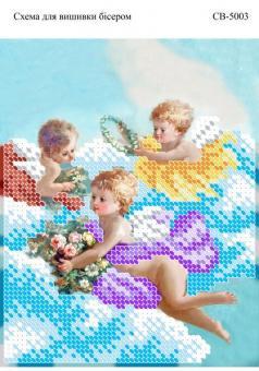Вышивка бисером СВ 5003 Ангелочки