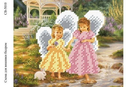 Вышивка бисером СВ 5010 Ангелочки