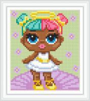 Набор Алмазной мозаики АВ 5077  Кукла  полная зашивка
