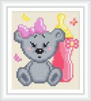 Набор Алмазной мозаики АВ 5084 Мишка  полная зашивка