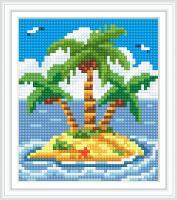 Набор Алмазной мозаики АВ 5085 Остров  полная зашивка