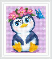 Набор Алмазной мозаики АВ 5087 Пингвин  полная зашивка