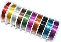 Проволока для бисера цветная 0,3 мм маленькая  (10м)