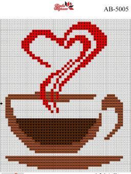 Набор Алмазной мозаики формат АВ 5005 Кофе