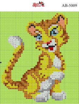Набор Алмазной мозаики формат АВ 5009 Тигра