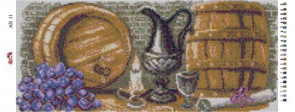 Набор Алмазной мозаики  Пано  АП 11 (частичная зашивка Погребок