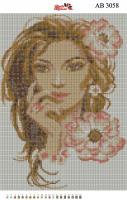 Набор Алмазной мозаики  АВ 3058 Девушка  (полная зашивка)