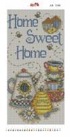 Алмазная вышивка АВ 3508 Дом милый дом  (полная зашивка)