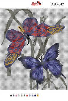 Набор Алмазной мозаики   АВ 4042 Бабочка полная зашивка