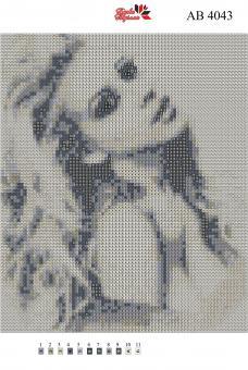 Набор Алмазной мозаики   АВ 4043 Девушка полная зашивка