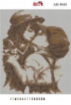 Набор Алмазной мозаики   АВ 4044 Дети полная зашивка
