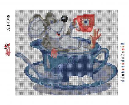 Набор Алмазной мозаики   АВ 4048  Мышка полная зашивка