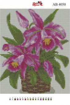 Набор Алмазной мозаики   АВ 4050 Лилии полная зашивка