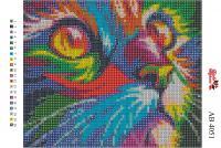 Набор Алмазной мозаики   АВ 4051 Котейка  полная зашивка