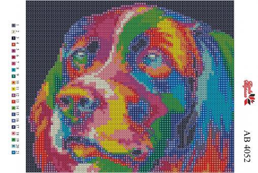 Набор Алмазной мозаики   АВ 4052 Собака  полная зашивка