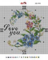 Набор Алмазной мозаики   АВ 4501 Часы полная зашивка