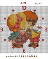 Набор Алмазной мозаики   АВ 4502 Часы полная зашивка