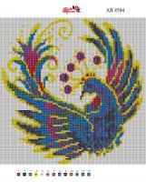 Набор Алмазной мозаики   АВ 4504 Часы полная зашивка