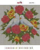 Набор Алмазной мозаики   АВ 4505  Голуби полная зашивка