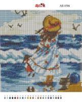 Набор Алмазной мозаики   АВ 4506 Девочка  полная зашивка