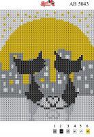 Набор Алмазной мозаики АВ 5043 Коты