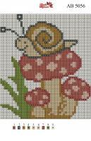 Набор Алмазной мозаики АВ 5056 Улитка полная зашивка