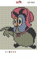 Набор Алмазной мозаики АВ 5068 Совушка полная зашивка
