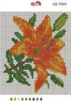 Набор Алмазной мозаики АВ 5069 Лилия полная зашивка