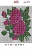 Набор Алмазной мозаики АВ 5070 Роза полная зашивка