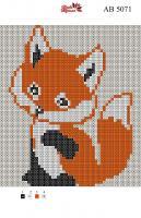 Набор Алмазной мозаики АВ 5071 Лис полная зашивка