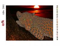 Набор Алмазной мозаики   АВч 2001 Гепард частичная зашивка