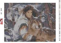 Набор Алмазной мозаики   АВ  2004  Волк полная зашивка